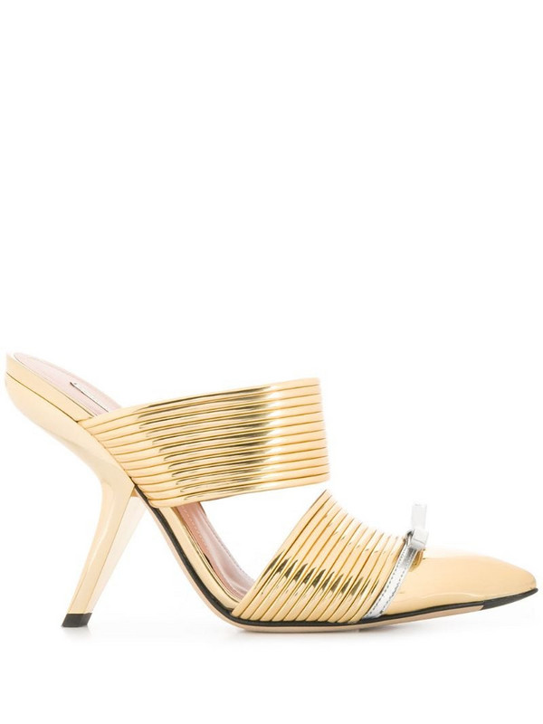 Marco De Vincenzo slip-on mule in gold