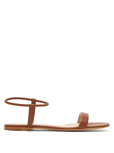 Gianvito Rossi - Jaime Leather Flat Sandals - Womens - Tan