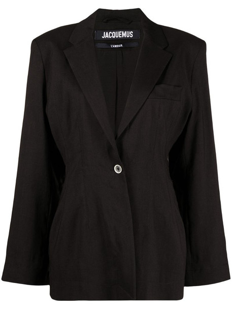 Jacquemus single-breasted blazer in black