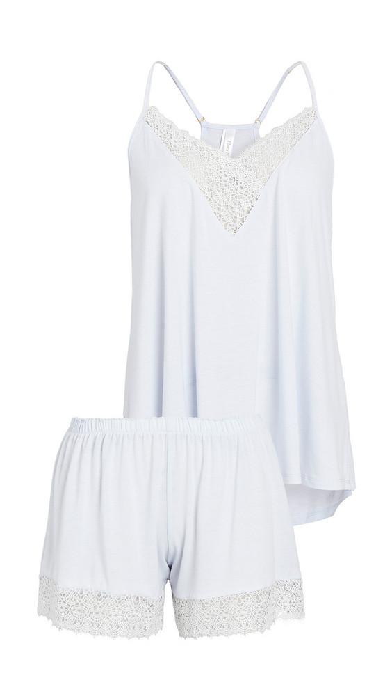 Flora Nikrooz Knit Cami & Tap Shorts Pajama Set in blue