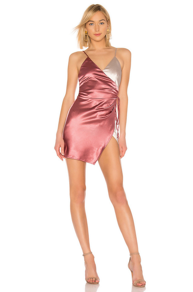 About Us Alexi Wrap Dress in pink