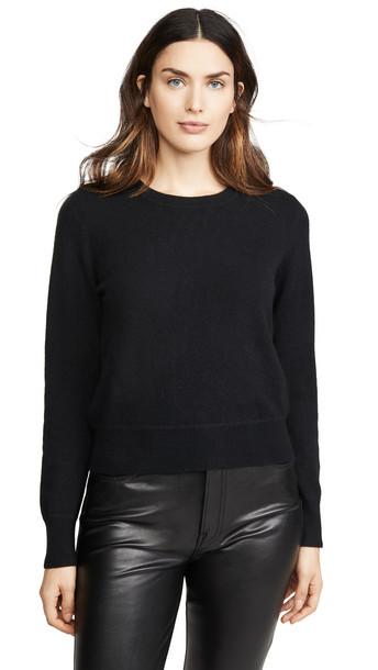 Naadam Cashmere Crew Sweater in black