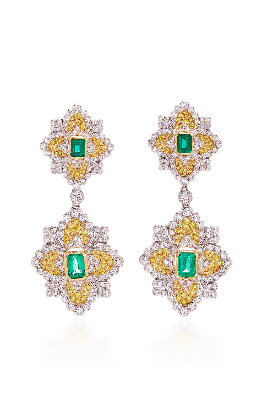 Buccellati Opera Emerald Earrings in green