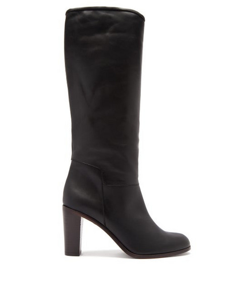 A.P.C. A.P.C. - Marion Knee-high Leather Boots - Womens - Black