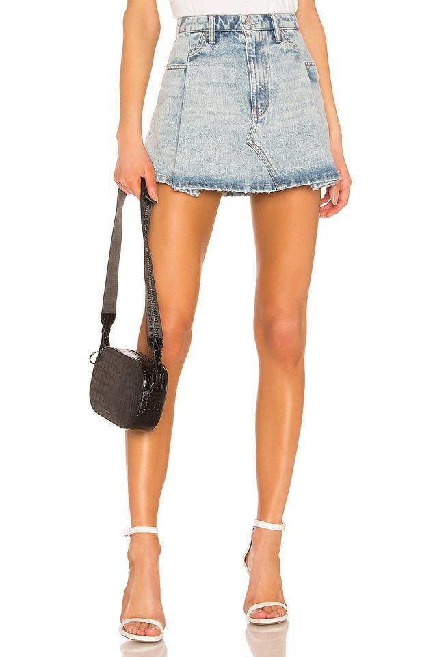 DENIM x ALEXANDER WANG Pleated Mini Skirt
