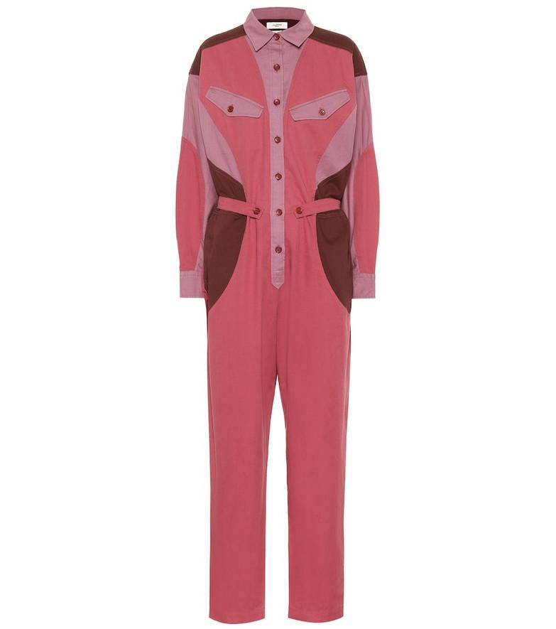 Isabel Marant, Étoile Guan cotton jumpsuit in pink