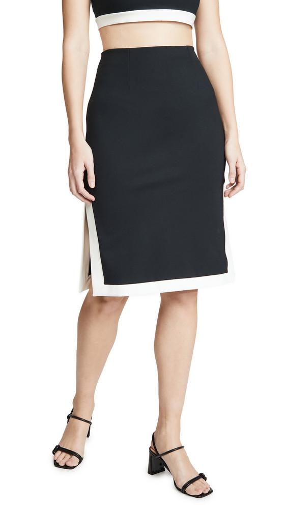 STAUD Yang Skirt in black / white