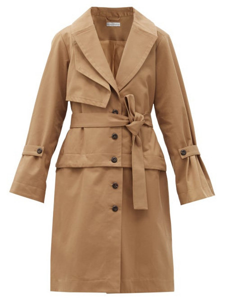 Palmer/harding Palmer//harding - Cebus Detachable-hem Cotton-gabardine Trench Coat - Womens - Camel