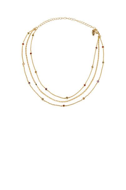 Ettika Layered Necklace in gold / metallic