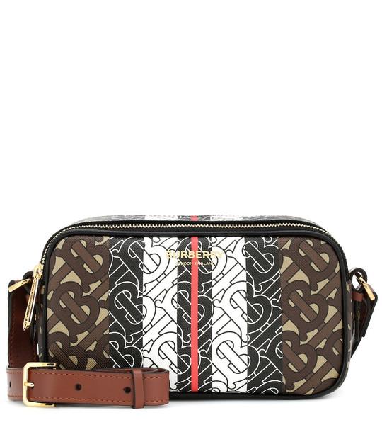 Burberry Monogram Stripe canvas belt bag in brown