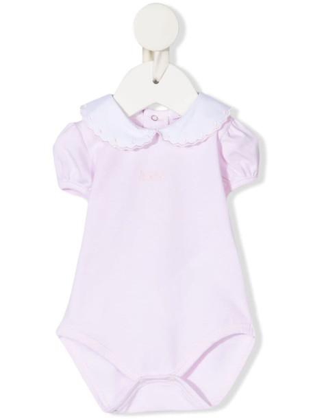 Le Bebé Enfant short puff-sleeve romper - Pink