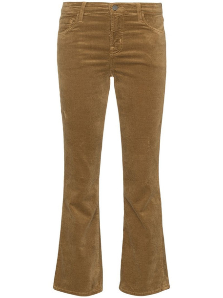 J Brand flared bootcut trousers in neutrals