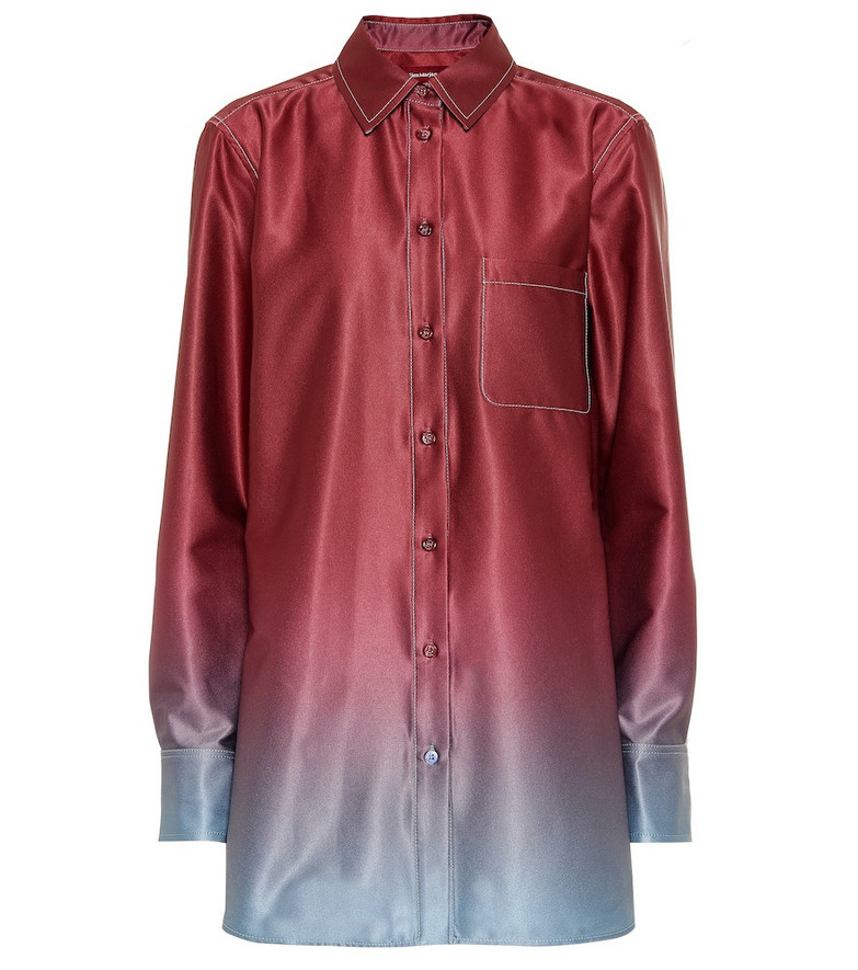 Sies Marjan Sander dégradé shirt in red