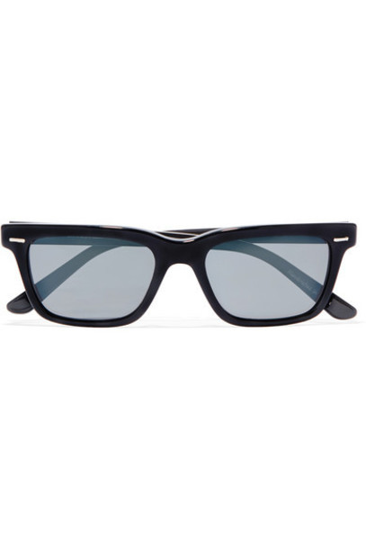 The Row - Oliver Peoples D-frame Acetate And Gold-tone Sunglasses - Black