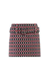skirt,mini skirt,mini,jacquard,navy,houndstooth