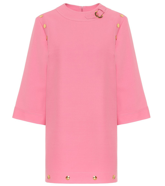 Gucci Silk and wool cady minidress in pink