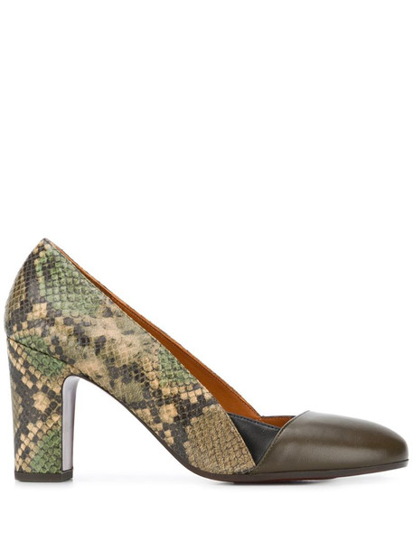 Chie Mihara Wantil panelled pumps in green