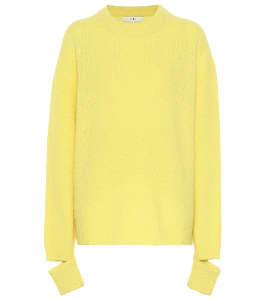 Tibi Alpaca-blend sweater in yellow