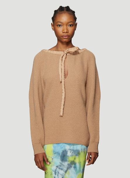 Stella McCartney Cold-Shoulder Sweater in Beige size IT - 42