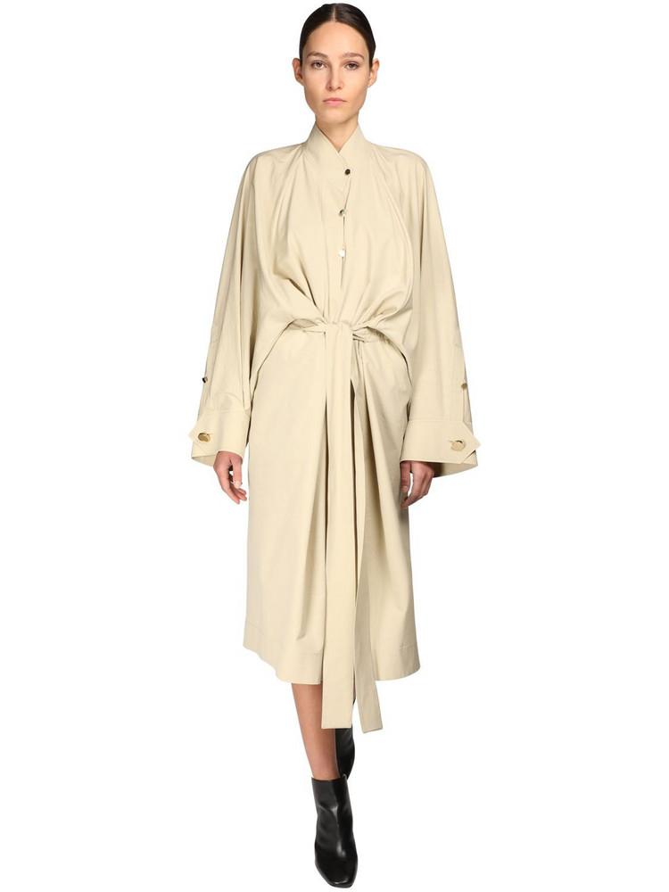 PETAR PETROV Belted Cotton & Silk Dress in beige