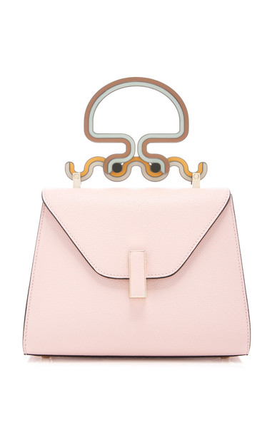 Valextra Mini Iside Octopus Handle Leather Bag in pink