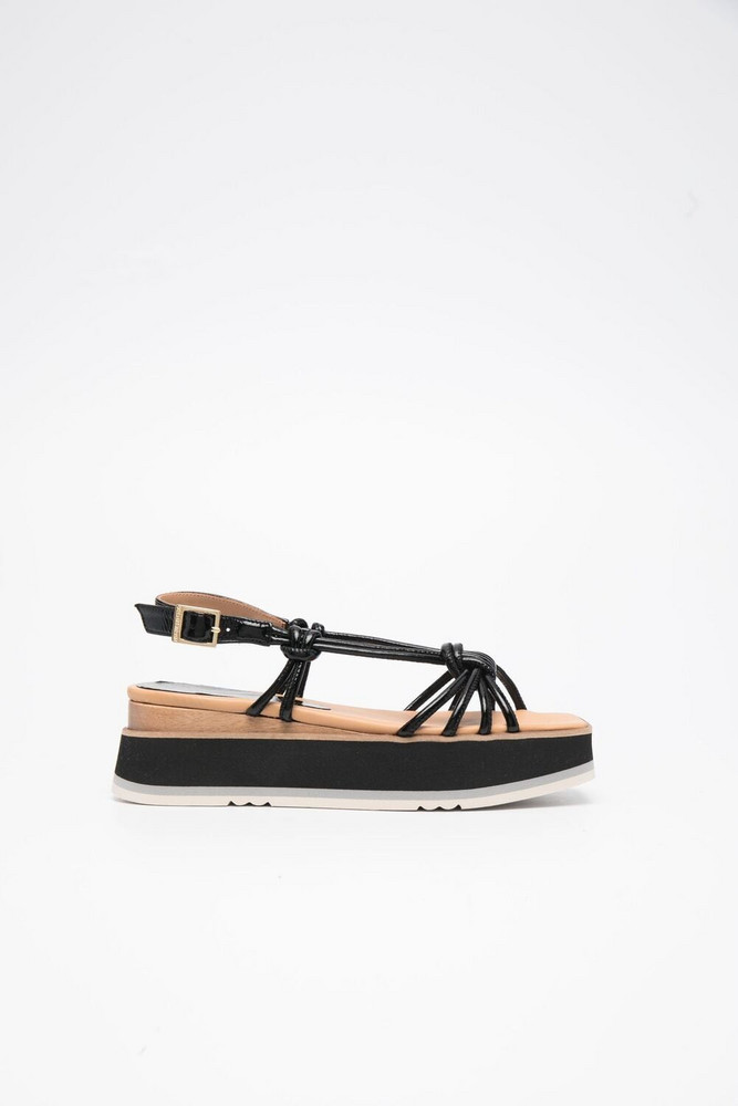Paloma Barceló Paloma Barceló Yata leather sandals - Black