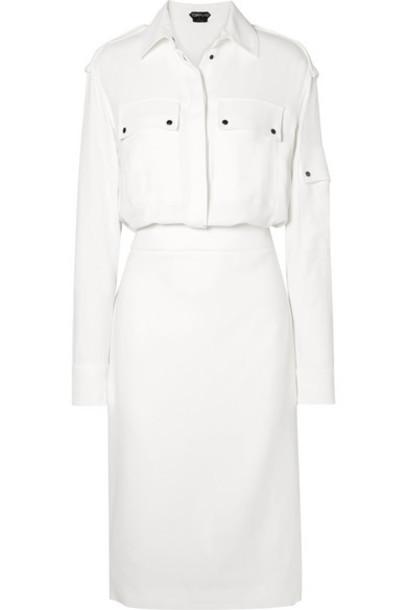 TOM FORD - Stretch-crepe Midi Dress - Ivory