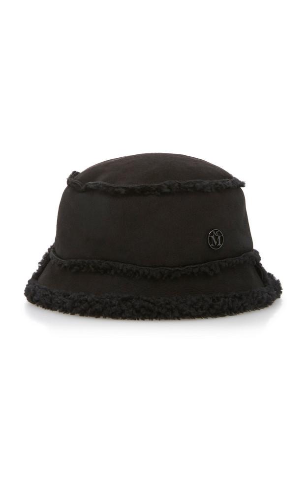 Maison Michel Malo Shearling Bucket Hat Size: M in black