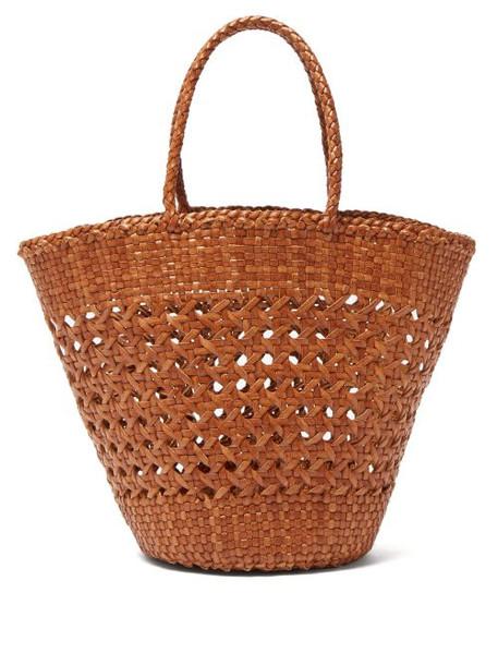 Dragon Diffusion - Myra Woven Leather Basket Bag - Womens - Tan
