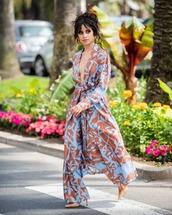 dress,kimono,long,wide-leg pants
