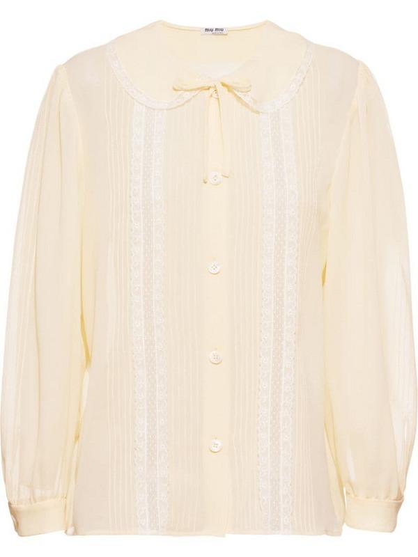 Miu Miu georgette shirt in neutrals