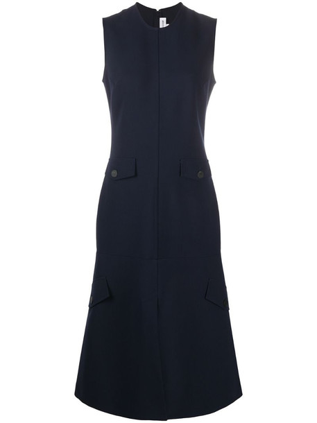 Victoria Beckham sleeveless fitted dress in blue