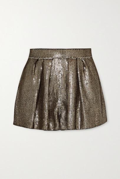 SAINT LAURENT - Sequined Crepe Shorts - Black