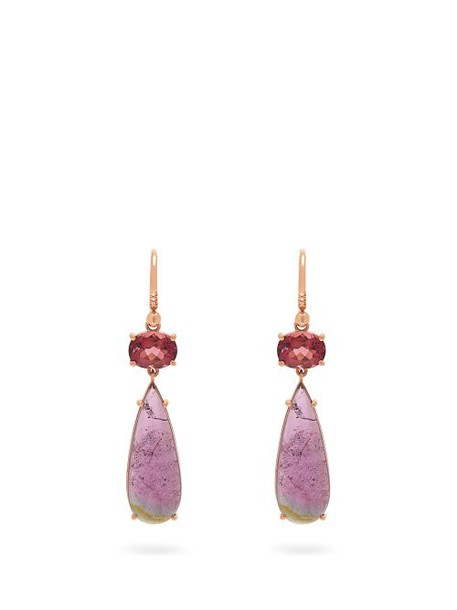 Irene Neuwirth - 18kt Rose Gold And Tourmaline Drop Earrings - Womens - Pink