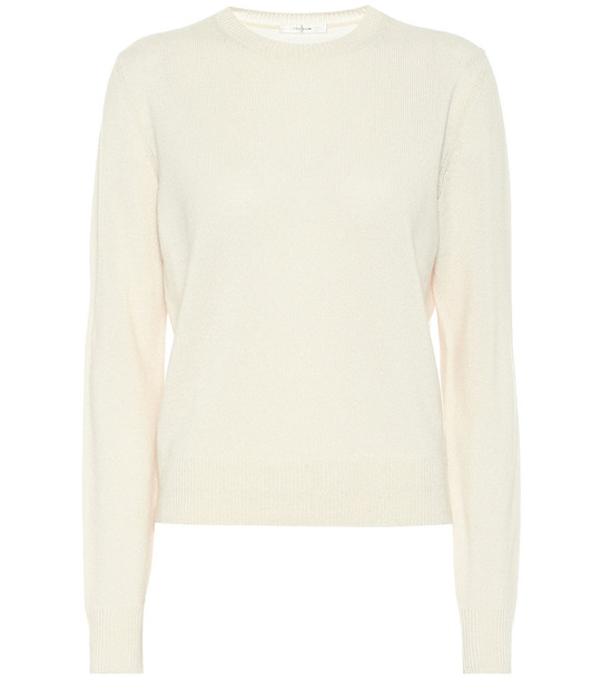 The Row Cashmere sweater in yellow