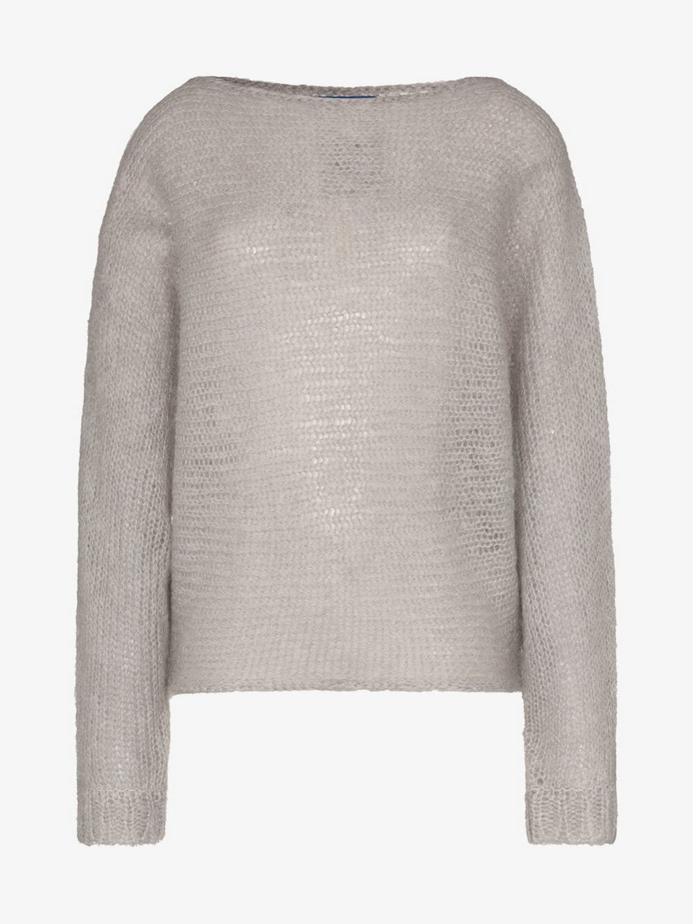 Simon Miller batwing sleeve knitted mohair wool jumper in grey