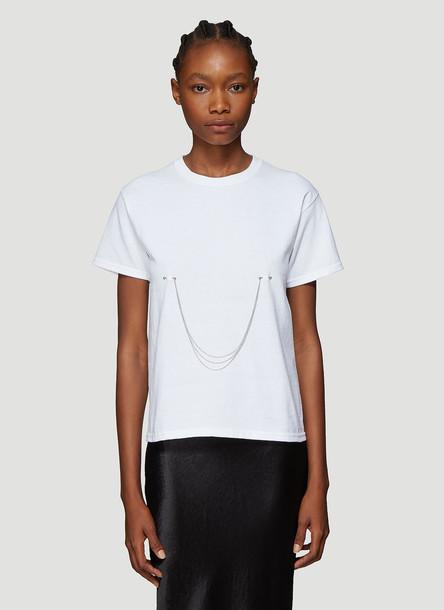 Collina Strada Pierced Chain T-Shirt in White size L