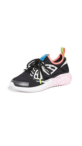 Sophia Webster Fly-By Sneakers in black / white