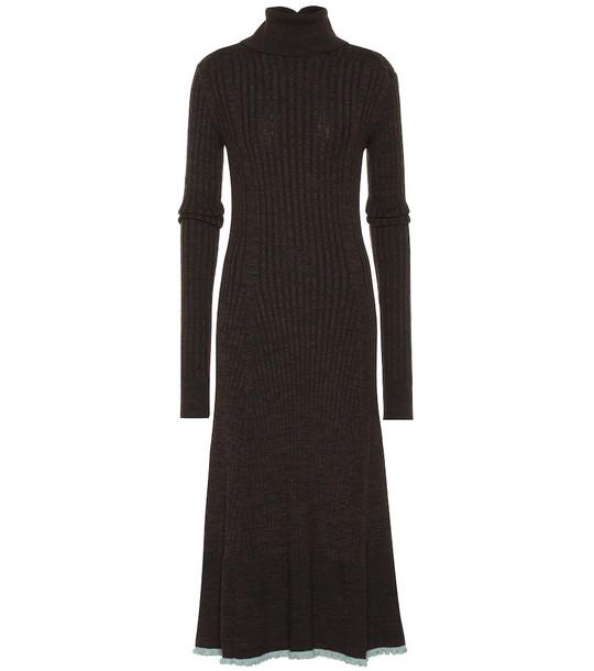 Jil Sander Wool dress in brown