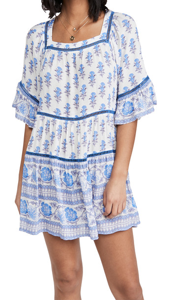 Playa Lucila Drop Waist Border Print Dress