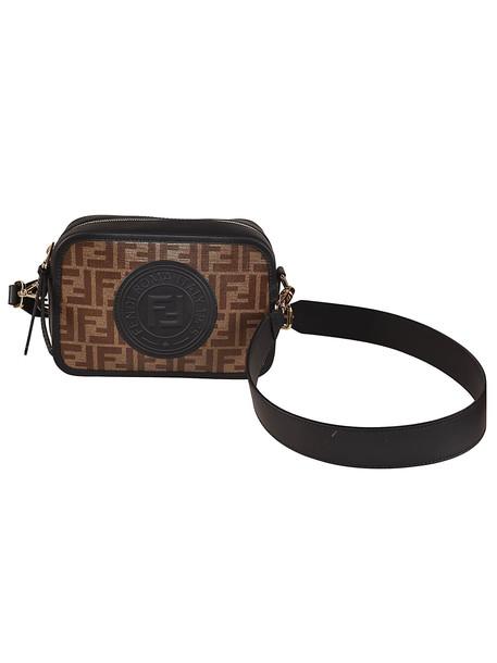 Fendi Ff Motif Shoulder Bag in black / brown