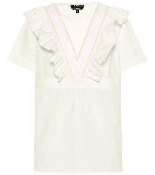 A.P.C. Erwin cotton top in white