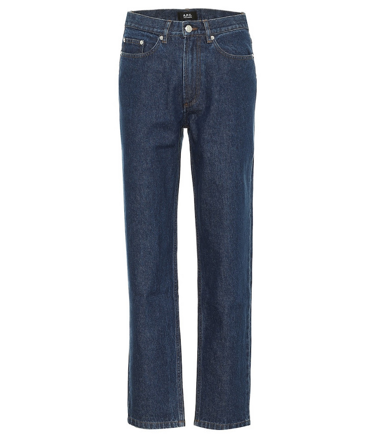 A.P.C. Martin high-rise straight jeans in blue