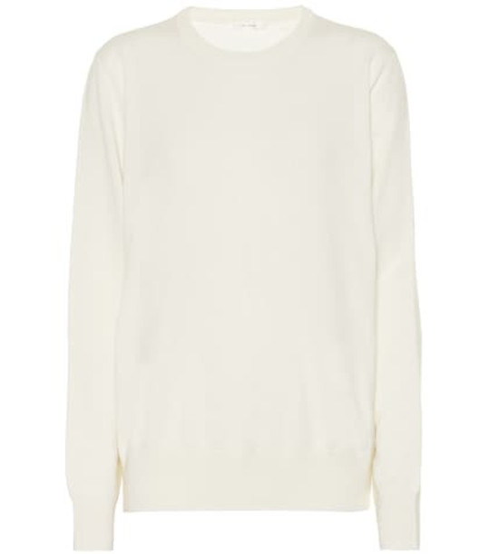 The Row Olive cashmere sweater in white