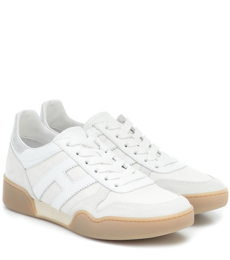 Hogan H357 Retro leather sneakers in white