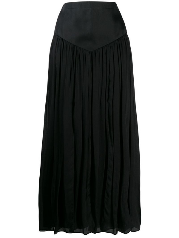 Emanuel Ungaro Pre-Owned '1990s pleated maxi skirt in black