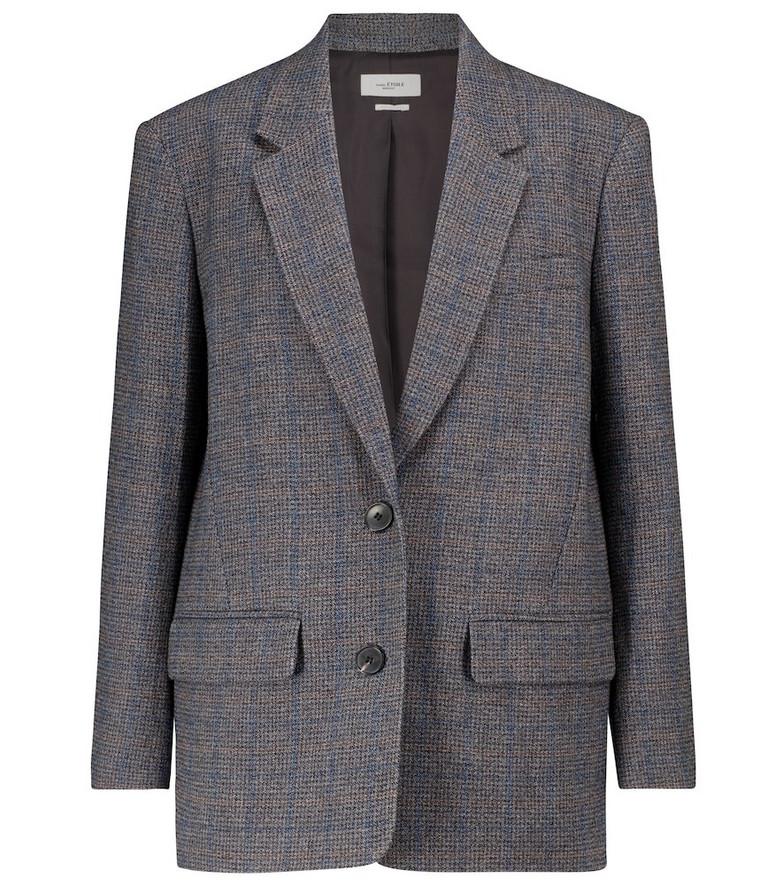 Isabel Marant, Étoile Ilindae checked tweed blazer in grey