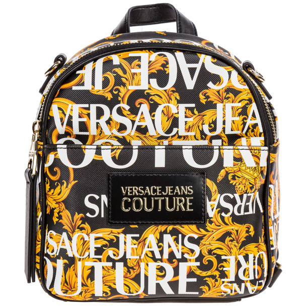 Versace Jeans Couture Rucksack Backpack Travel Logo Baroque in nero