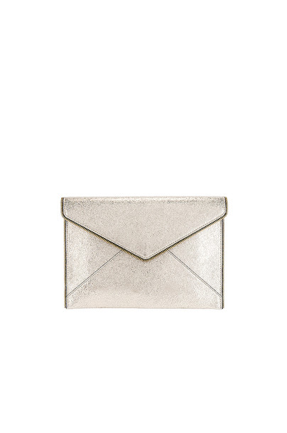 Rebecca Minkoff Leo Clutch in gold / metallic