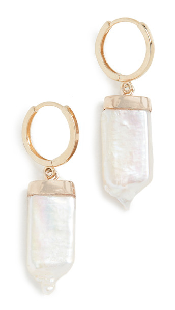 Loren Stewart 14k Pearl Paleta Earrings in gold